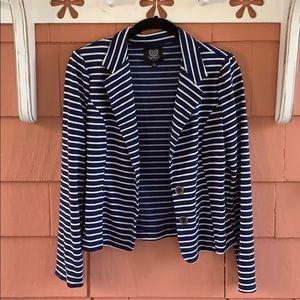 💙 Mine | Blue & White Striped Blazer